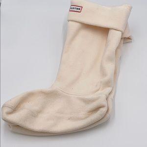 Tall Medium Ivory Hunter fleece socks boot lining